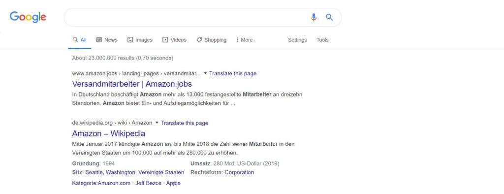 amazon Suchergebnis Versandmitarbeiter