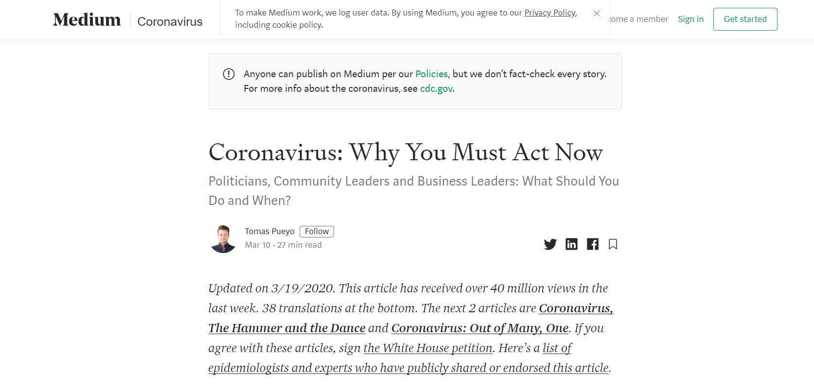 medium Corona Blog Post
