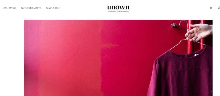 unown Fashion zum Leasen / Mieten